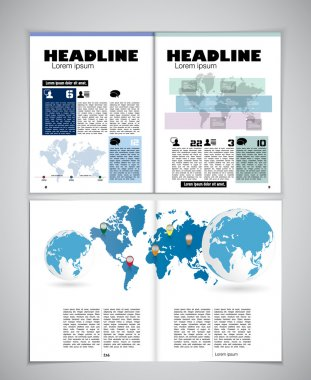 Newspaper template illustration