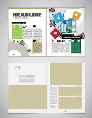 Design newspaper template