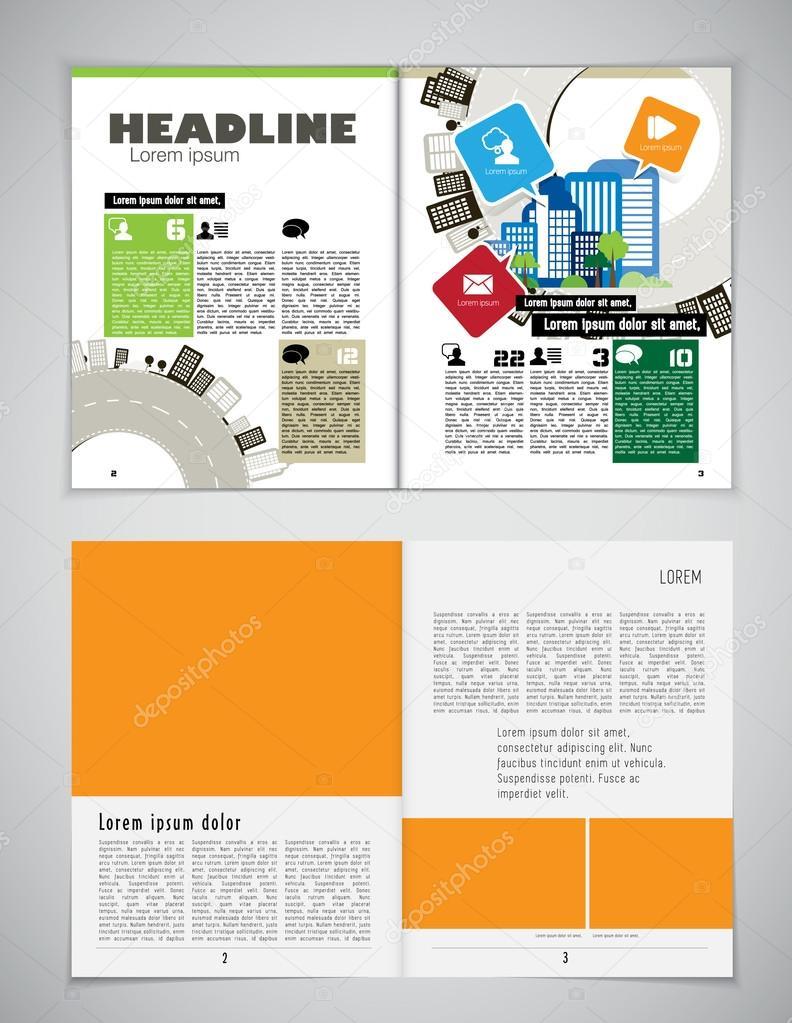 Plantilla de diseño diario — Archivo Imágenes Vectoriales ...