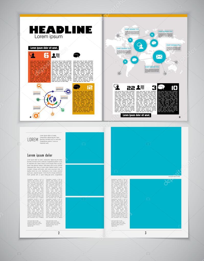 Ilustración de plantilla de periódico — Vector de stock © zeber2010 ...