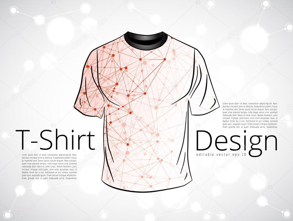 T shirt design template stock vector zeber2010 94183078 for Stock t shirt designs