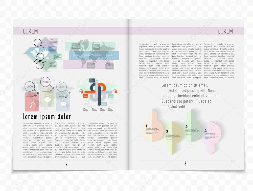 Ilustración de plantilla de periódico — Vector de stock ...
