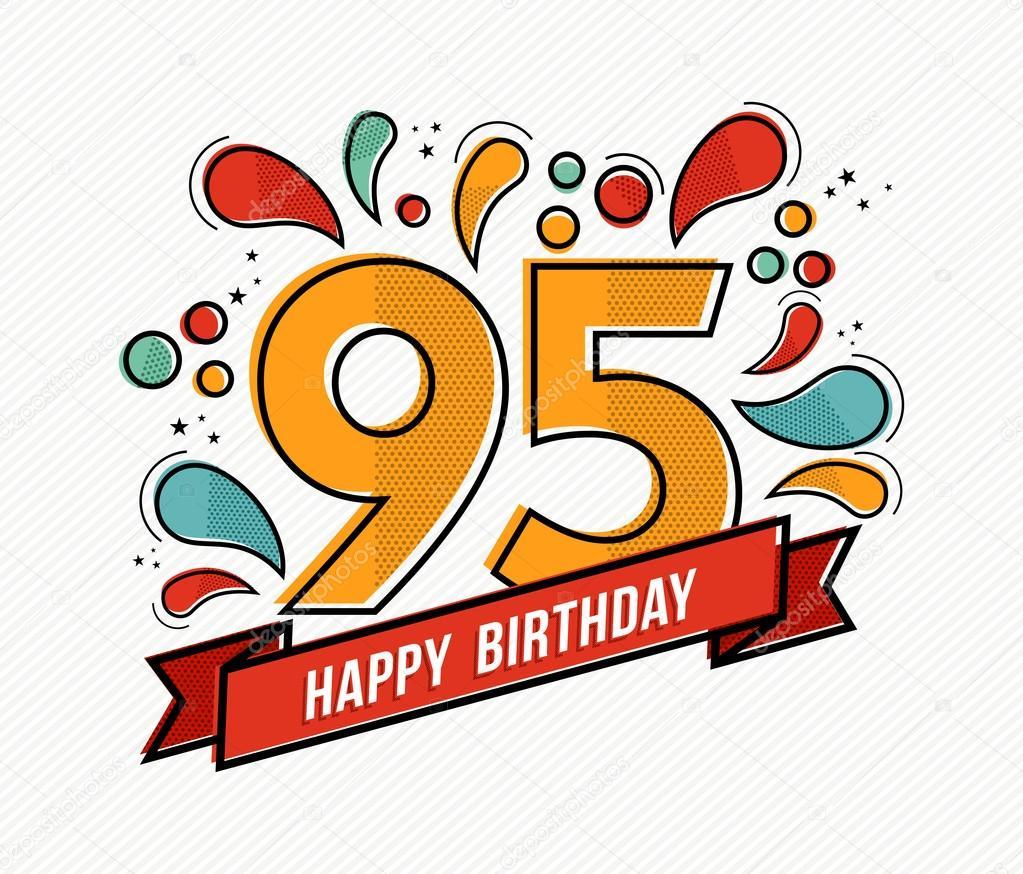 Imagenes Del Numero 95 Feliz Cumpleanos Colorido Numero 95 Plano