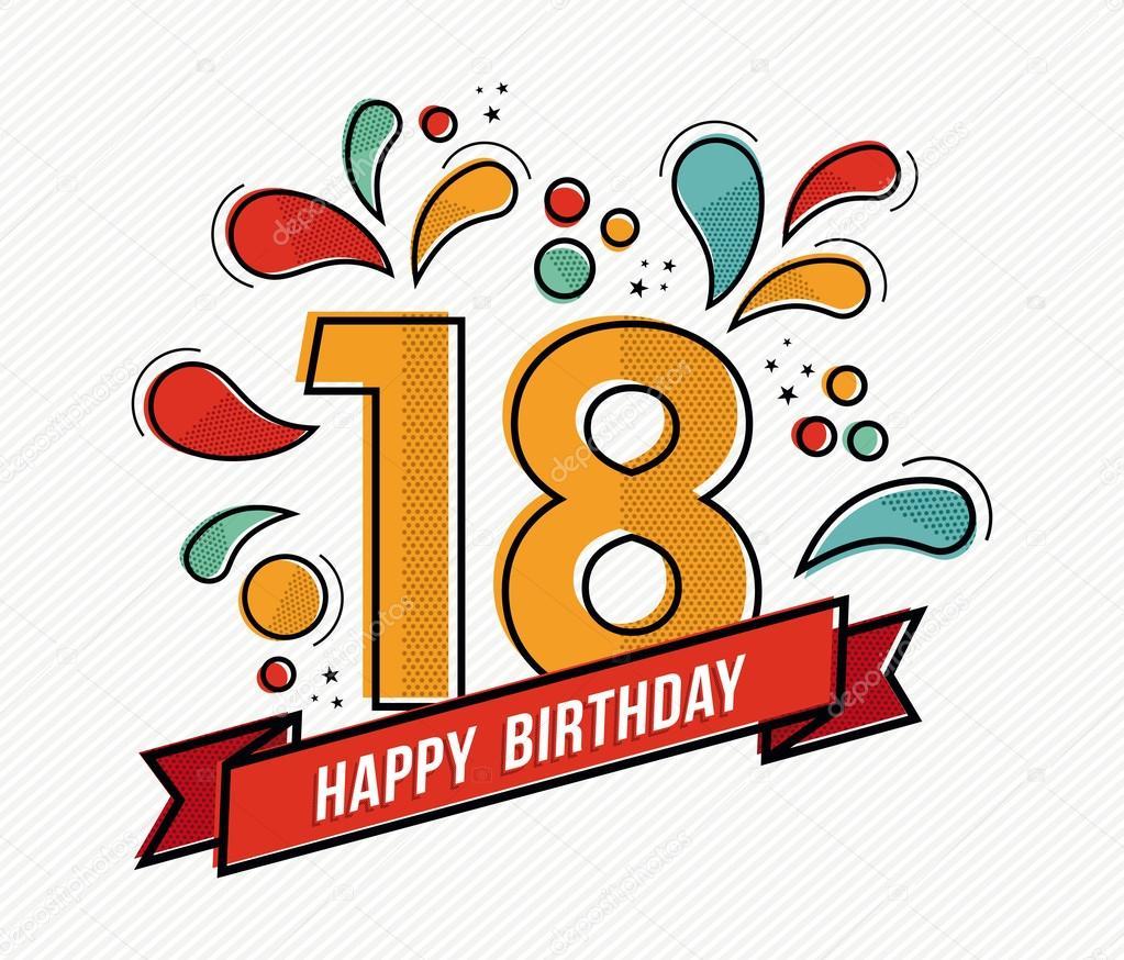Felicitaciones De 18 Cumpleaños Para Imprimir Diseño De