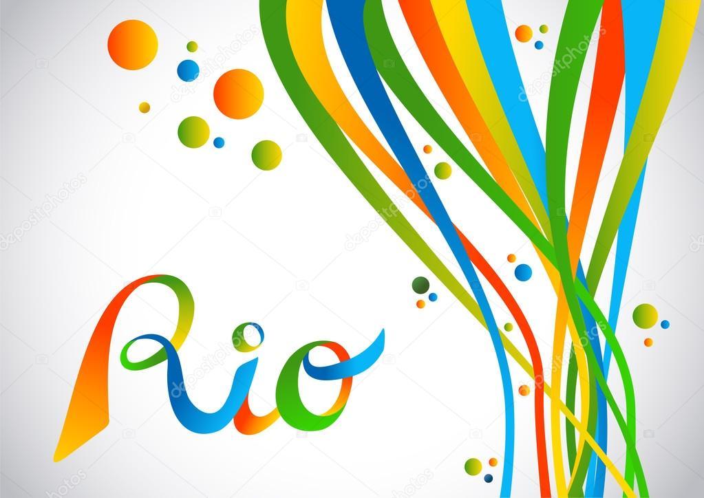 Rio Brésil couleur design avec des formes de jeu de sport — Image