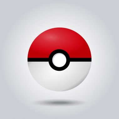 Vector design of pokeball from pokemon go game
