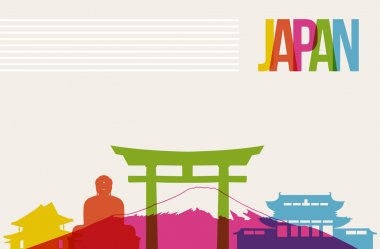 Travel Japan destination landmarks skyline background