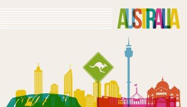 Travel Australia destination landmarks skyline background