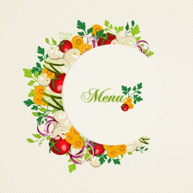 Vegetarian food menu illustration