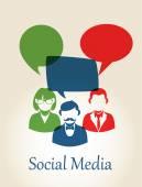 Sociální média lidí koncepce