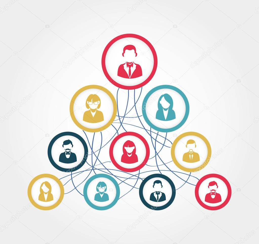 Social network diagram illustration