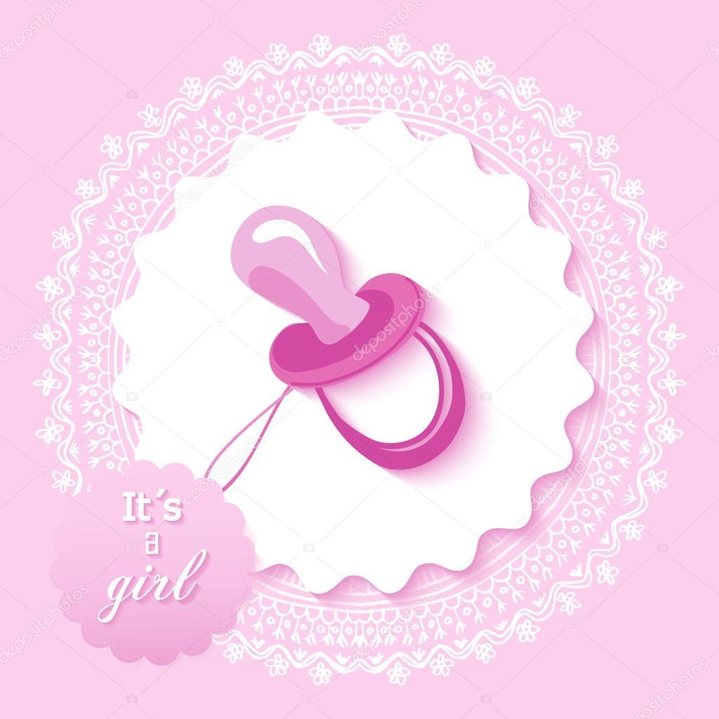 Baby Shower Facebook Event Banner Baby Shower Girl Invitation Card Design Stock Vector C Cienpies 59562277