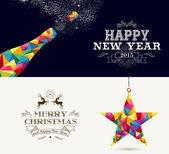 Fotografie Frohes neues Jahr und Frohe Weihnachten Feiertage