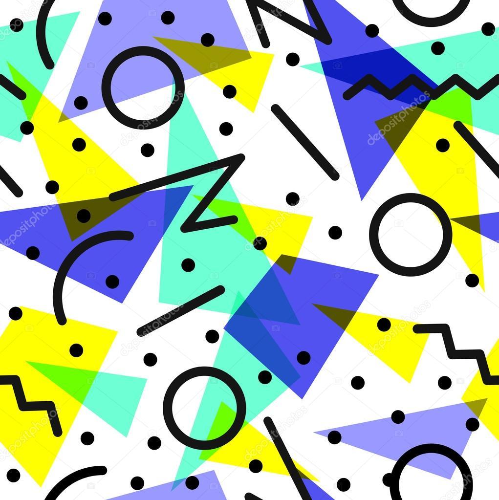 Retro 80s pattern background illustration