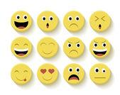 Cute emoticons set illustration