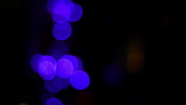 Christmas and new year blurred, blinking colorful tree lights background