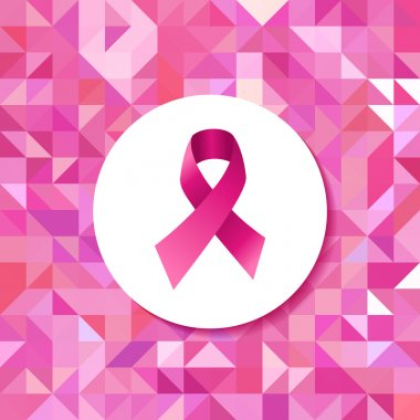 Breast cancer campaign ribbon hipster pattern