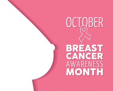Breast cancer awareness poster woman silhouette