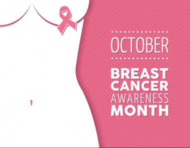 Breast cancer october awareness month campaign poster: ribbon sign and woman silhouette over pink cause background.  EPS10 vector file. stock vector