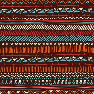 Boho seamless pattern tribal vintage background