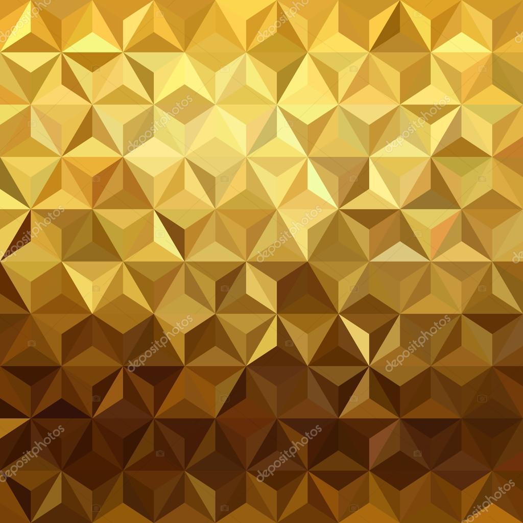 Gold pattern low poly 3d triangle geometry fancy