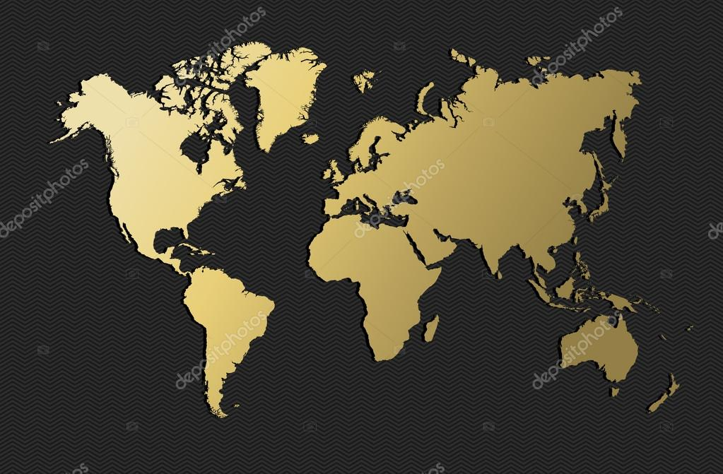 World map gold earth blank empty globe stock vector cienpies world map gold earth blank empty globe stock vector gumiabroncs Image collections