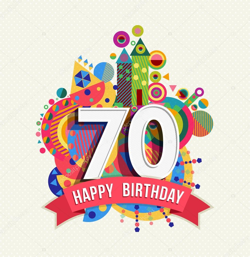 Happy birthday 70 year greeting card poster color stock vector happy birthday 70 year greeting card poster color stock vector m4hsunfo