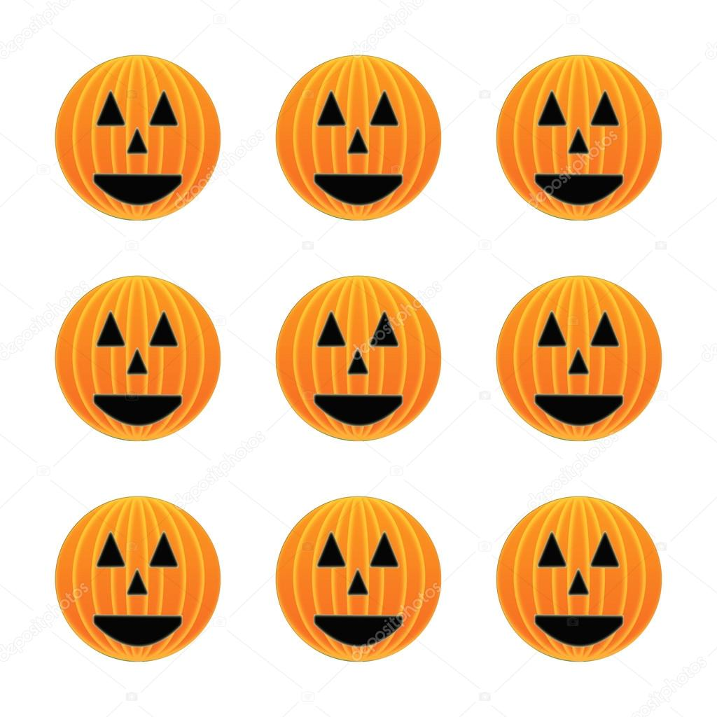 Happy Halloween pumpkin faces \u2014 Stock Photo © montana 123098432