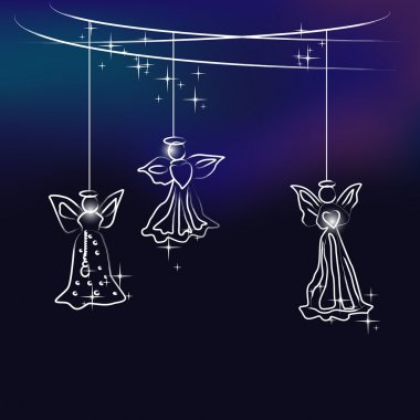 angels - christmas tree decoration