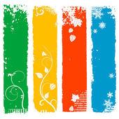 A négy évszak függőleges bannerek készlet