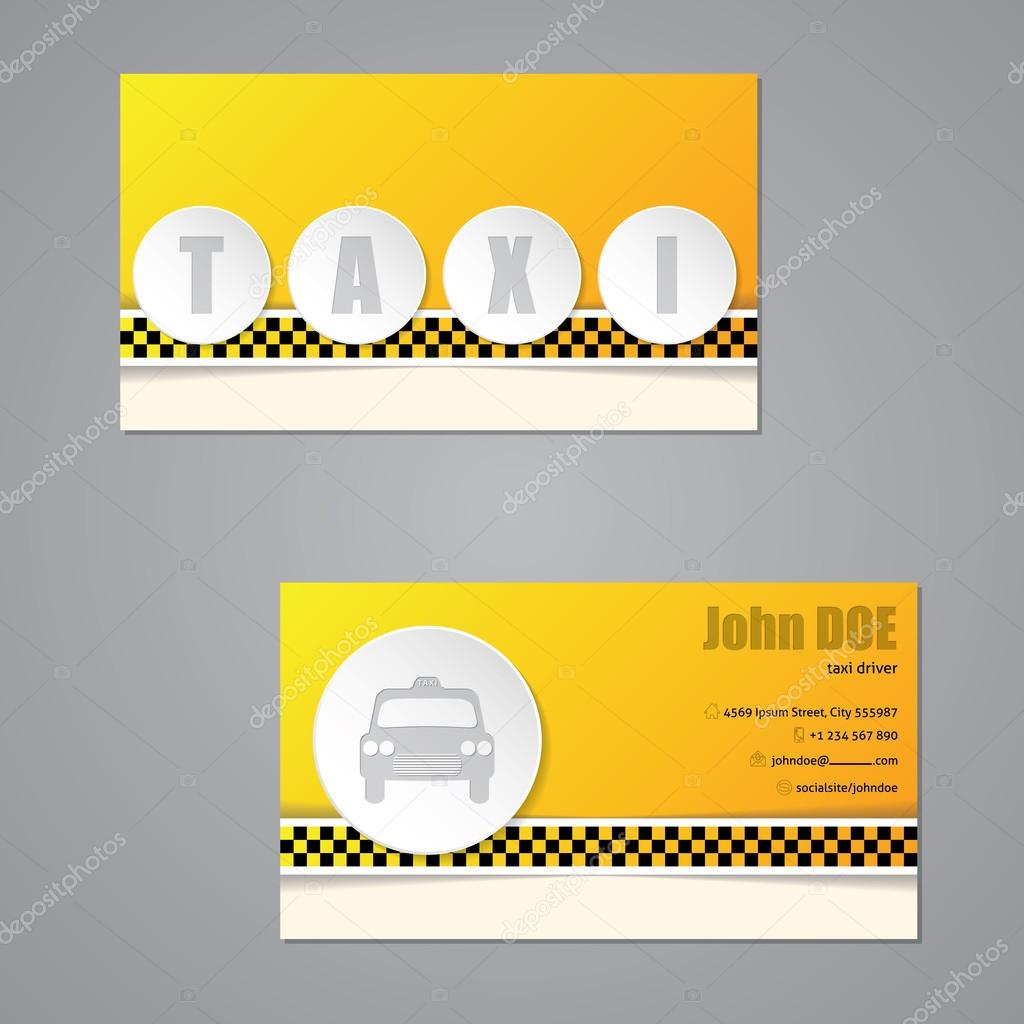 Taxi Visitenkarte Mit 3d Buttons Stockvektor Vipervxw