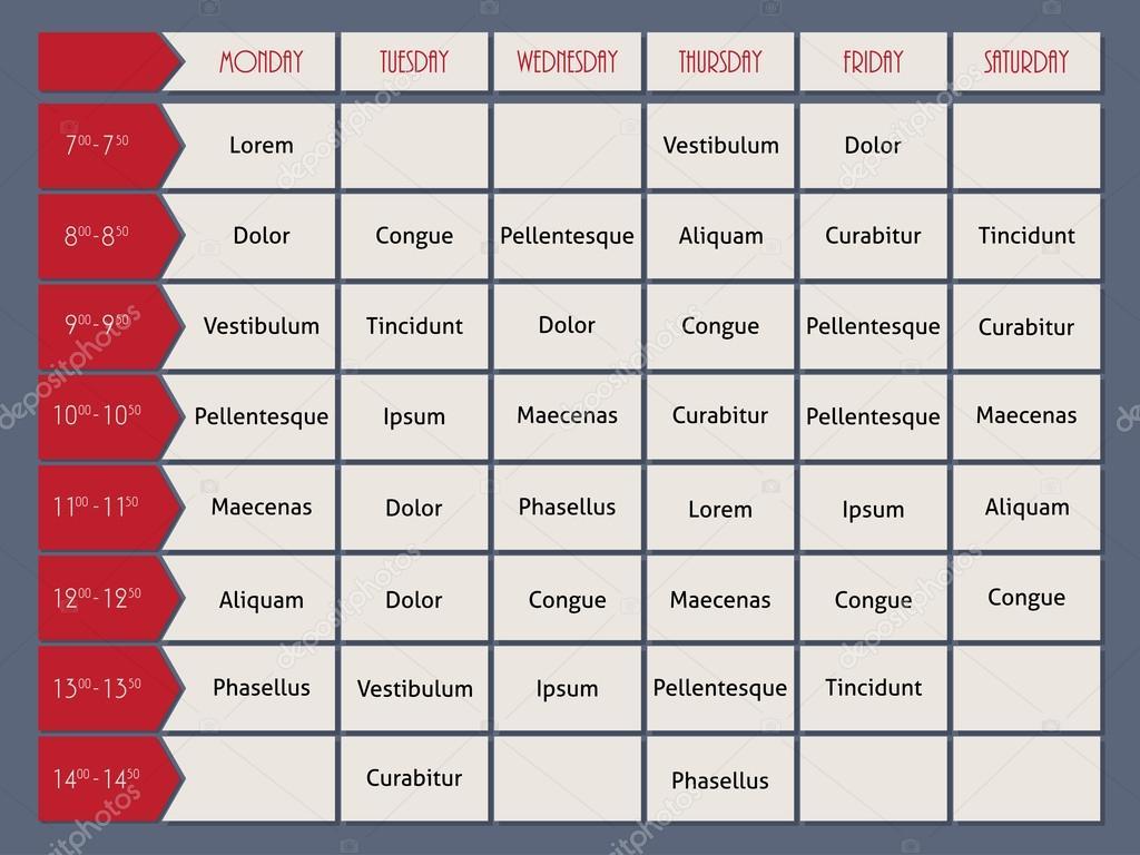 Roten Zeitplan Vorlage mit Pfeil der Zeit — Stockvektor © vipervxw ...