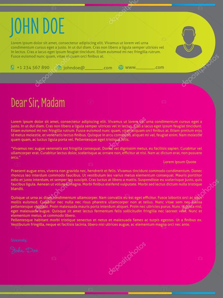 Carta colores modernos reanudar la plantilla cv — Vector de stock ...