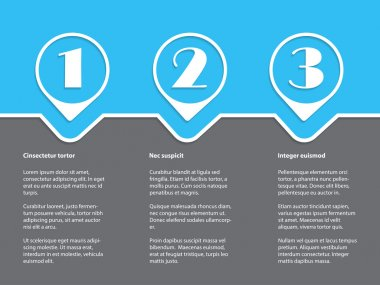 Simple infographic with white grades on blue gray background
