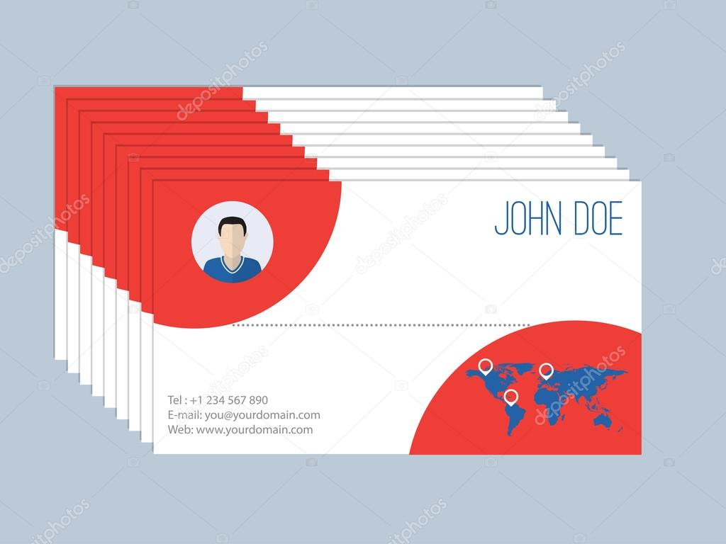 Cool Business Card Design Resume Style With Map Vecteur Par Vipervxw