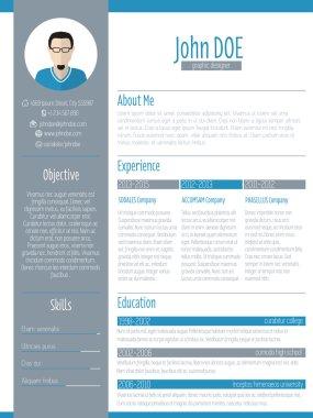 Modern resume cv design with photo