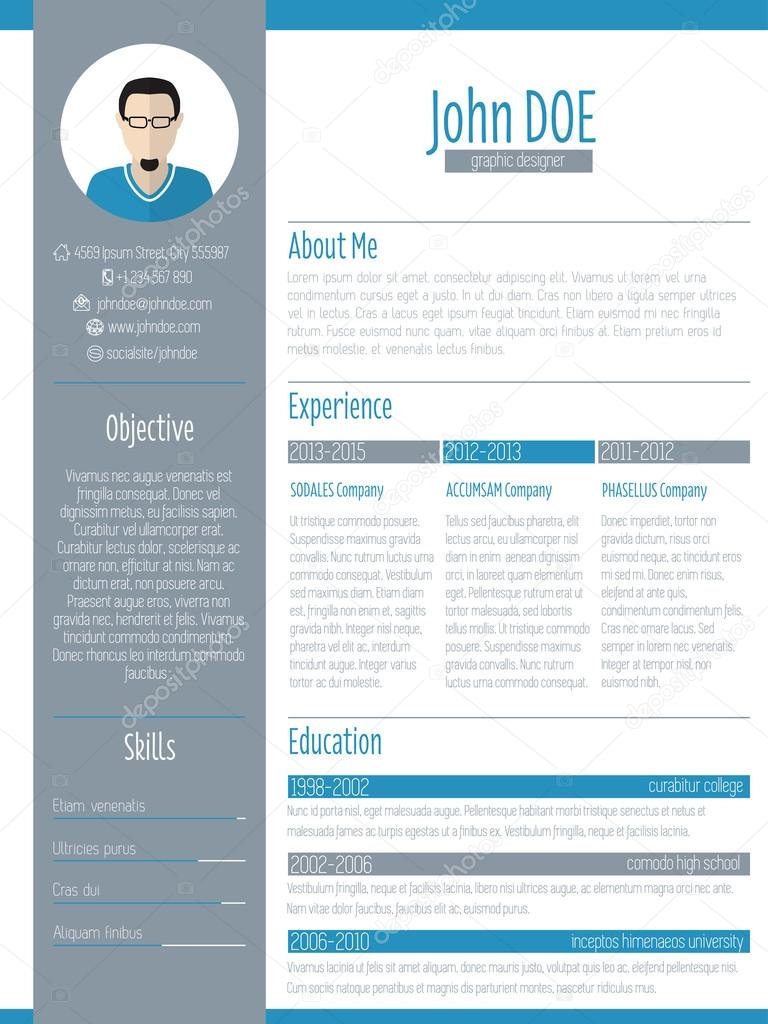 resume Modern Resume Design modern resume cv design with photo stock vector vipervxw 67022465 vector