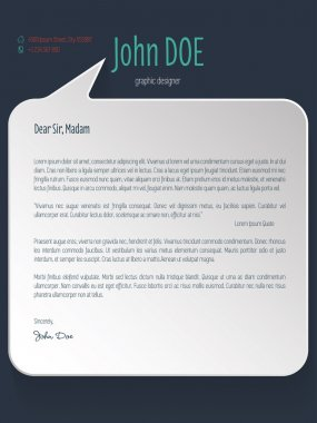 Speech bubble shaped cover letter