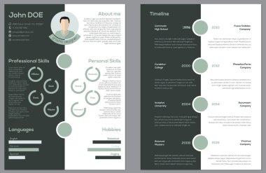 Modern 2 sided cv resume