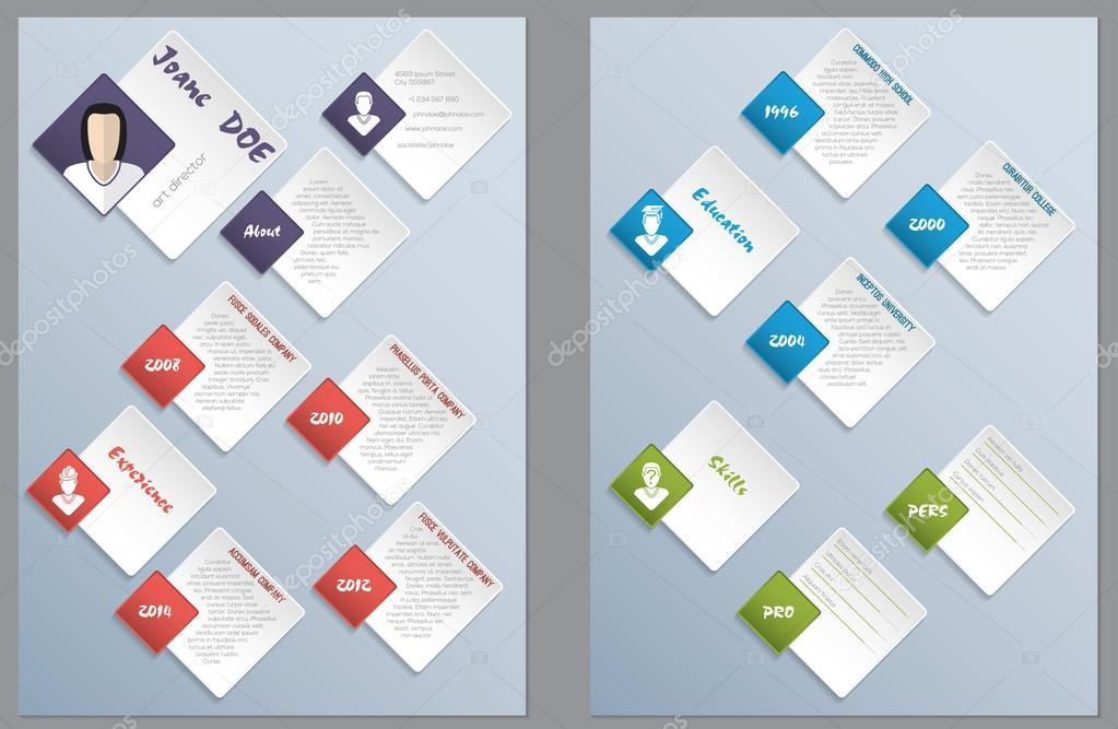 Cool nuevo moderno reanudar diseño de currículum vitae — Vector de ...