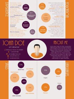 Dot design curriculum vitae resume