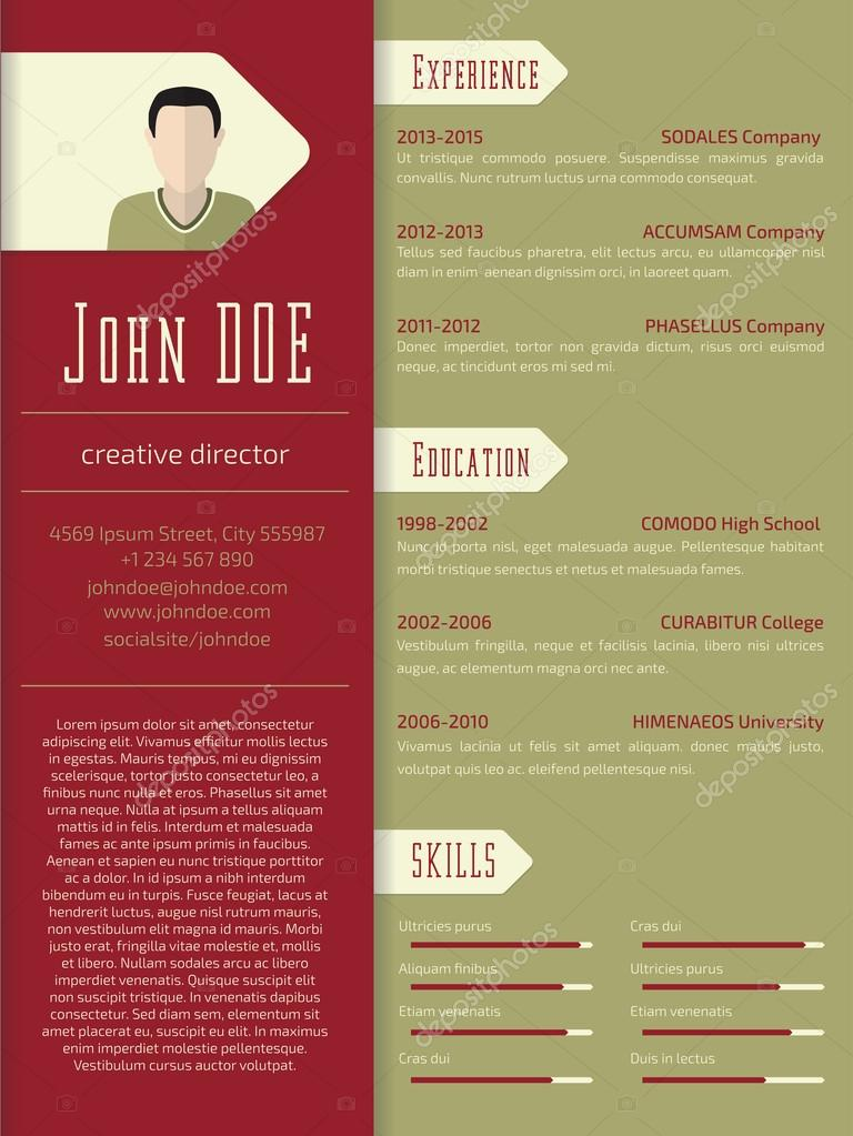 Modern Cv Resume Template Design Stock Vector Vipervxw 74748977