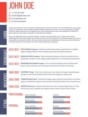 Simplistic yet modern cv resume template