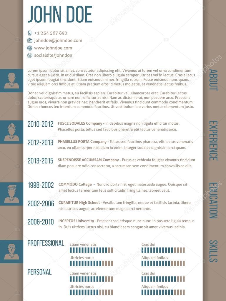 CV CV plantilla con categorías de lado — Vector de stock © vipervxw ...