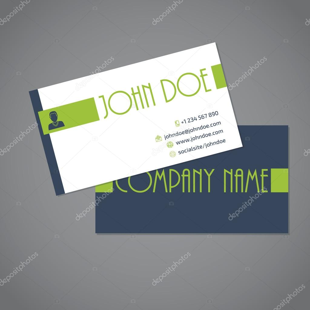Simplistic two sided business card — Stock Vector © vipervxw #82949870