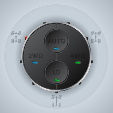 Off road differential control with function LEDs