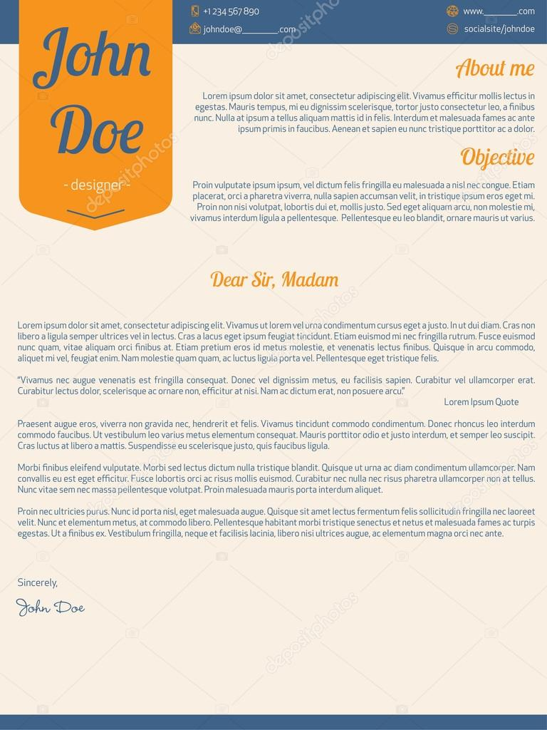 lettre moderne reprendra cv en ruban orange  u2014 image vectorielle vipervxw  u00a9  99893404