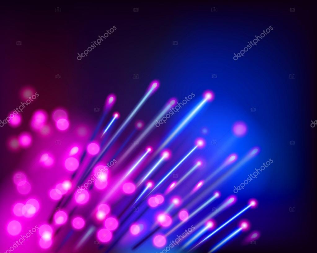 Optical fibers. Vector illustration.