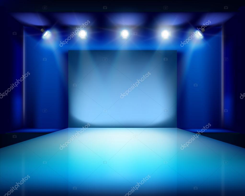 空のステージ。ベクトル イラスト. \u2014 ストックベクター © silvae