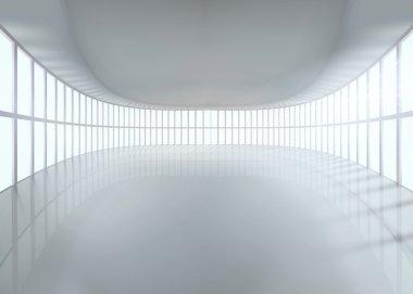 Great hall. Vector illustration.